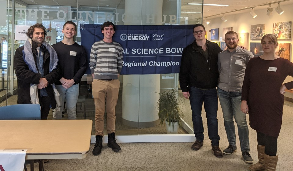 Trainees at 2020 Regional Science Bowl